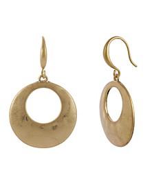 Gold-Tone Hammered Gypsy Hoop Earrings