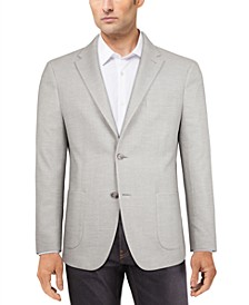 Men's Modern-Fit Solid Textured Knit Sport Coat