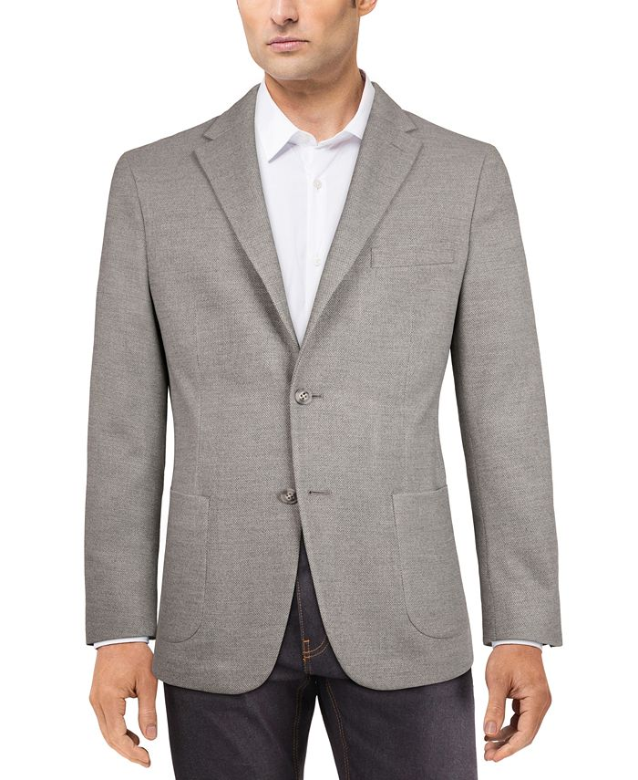 Tommy Hilfiger - Men's Modern-Fit Solid Textured Knit Sport Coat