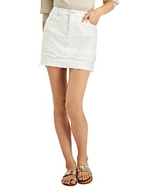 INC Double-Hem Mini Jean Skirt, Created for Macy's
