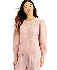 INC Volume-Sleeve Pullover Sweater, Created for Macy's