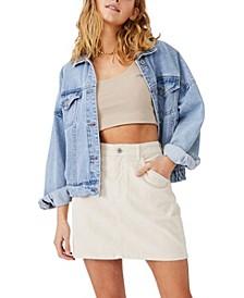 Hazel Cord Mini Skirt
