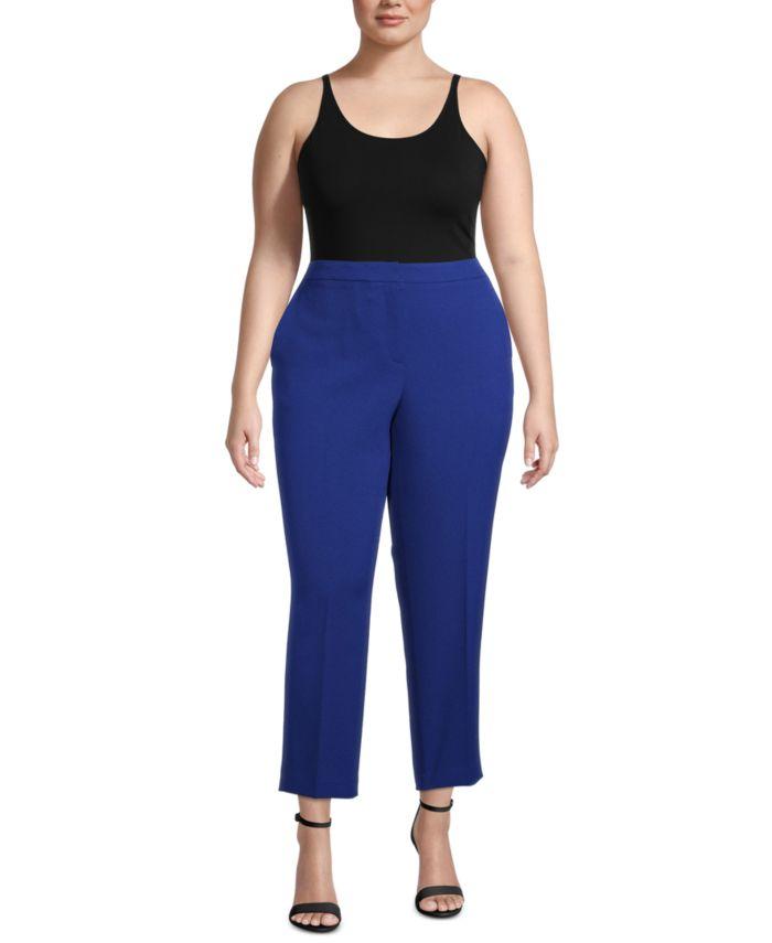 Kasper Plus Ankle Straight-Leg Pants & Reviews - Pants & Leggings - Women - Macy's