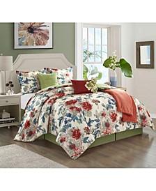 America Elizabeth 7 Piece Comforter Set, Queen