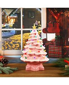 "Lit Nostalgic Christmas Tree 14"""
