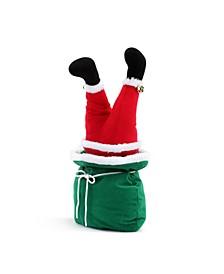 "10"" Mini Animated Christmas Kickers in Bag- Santa"