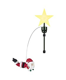 Animated Tree Topper- Flying Santa
