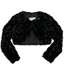 Big Girl Long Sleeve Faux Fur Lined Jacket