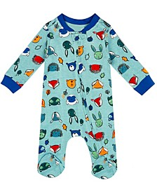 Organic Baby Boy 1-Piece Cole Coverall