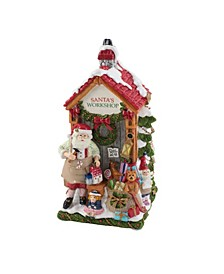 Santa's Workshop Musical Figurine