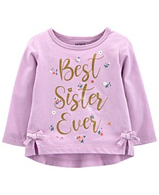 Baby Girl Best Sister Ever Jersey Tee