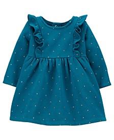 Baby Girl Polka Dot Fleece Dress