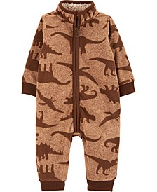 Baby Boy Dinosaur Fleece Jumpsuit