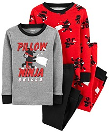 Toddler Boy 4-Piece 100% Snug Fit Cotton PJs
