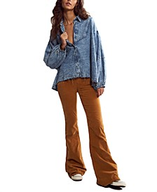 Pull-On Corduroy Flared Jeans