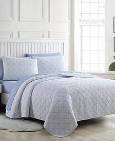 Kelsey Solid Full/Queen Quilt Set