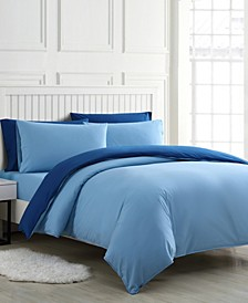Audrey Solid Queen Duvet Cover Bonus Set