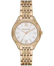 Women's Mindy Gold-Tone Stainless Steel Bracelet Watch 36mm