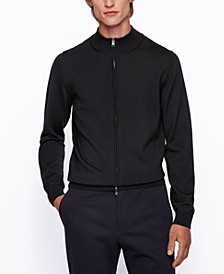 BOSS Men's Balonso Zip-Through Cardigan