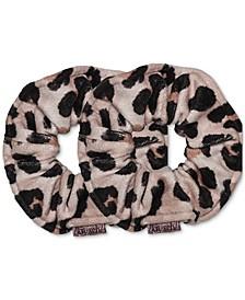 Leopard Printed Towel Scrunchies