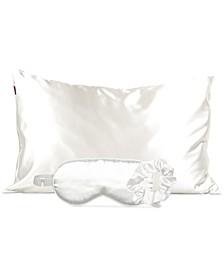 Ivory Satin Sleep 3pc Gift Set