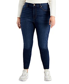 Trendy Plus Size High Rise Curvy-Fit Skinny Jeans