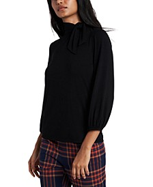 Faye Tie-Neck Top, Created for Macy's
