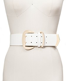 INC Wide Stretch Croc-Embossed Belt, Created for Macy's