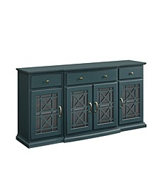 """60"""" Tiered Fretwork Sideboard"""