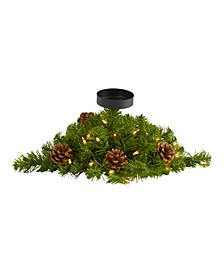 Christmas Pine Candelabrum with 35 Lights and Pine Cones