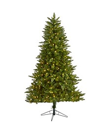 Vermont Spruce Artificial Christmas Tree with 450 Warm Multifunction LED Lights with Instant Connect Technology and 984 Bendable Branches