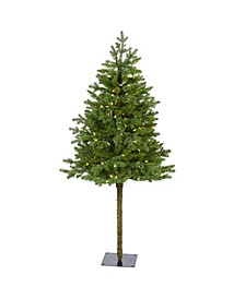 Swiss Alpine Artificial Christmas Tree with 150 Clear LED Lights and 270 Bendable Branches