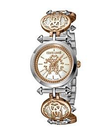 by Franck Muller Women's Swiss Quartz Silver-Tone Stainless Steel Bracelet Watch 28mm