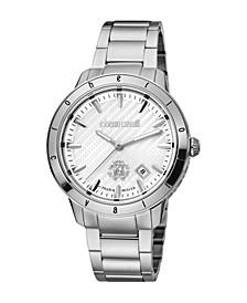 by Franck Muller Men's Swiss Quartz Silver-Tone Stainless Steel Bracelet Watch 42mm