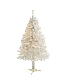 Artificial Christmas Tree with 350 Bendable Branches and 150 Clear LED Lights