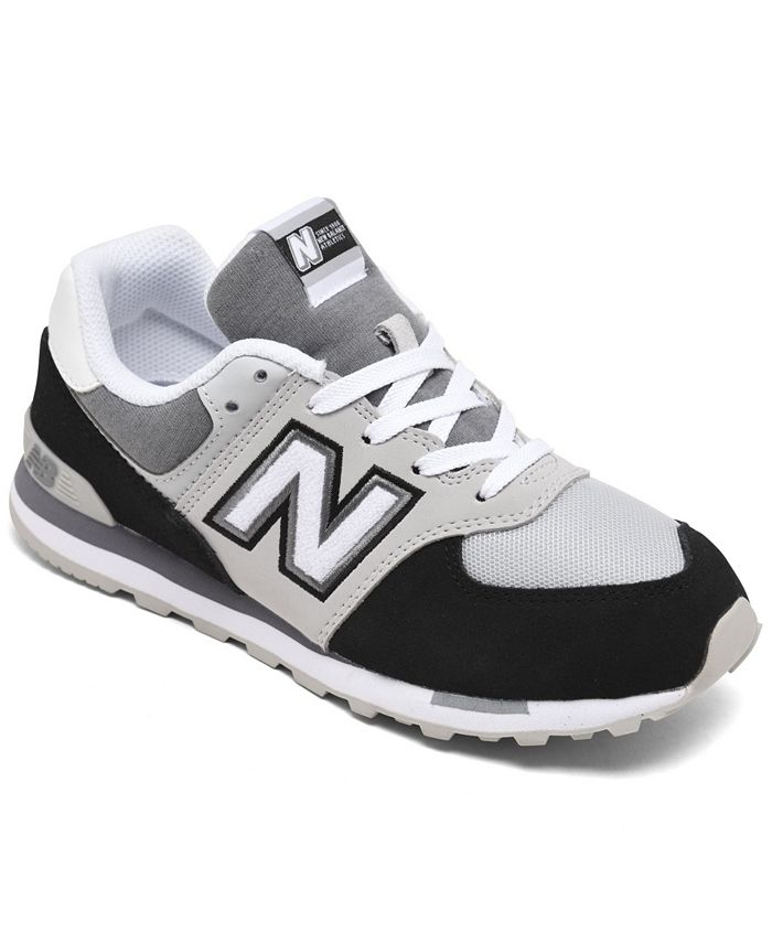 New Balance Big Boys 574 Varsity Sport Casual Sneakers from Finish ...