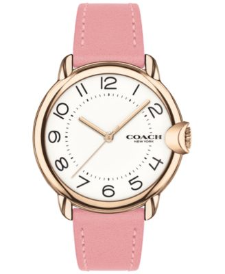 코치 여성 손목 시계 COACH Womens Arden Pink Leather Strap Watch 36mm