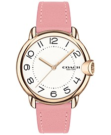 Women's Arden Pink Leather Strap Watch 36mm