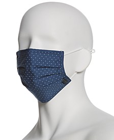Men's and Women's Reusable Pleated Woven Fabric Face Masks, Pack of 3