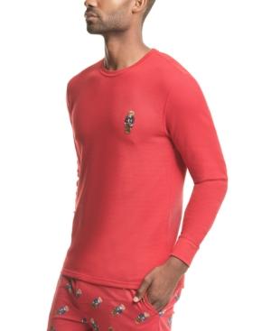 Polo Ralph Lauren Men's Big & Tall Varsity Bear Waffle-Knit Pajama Shirt