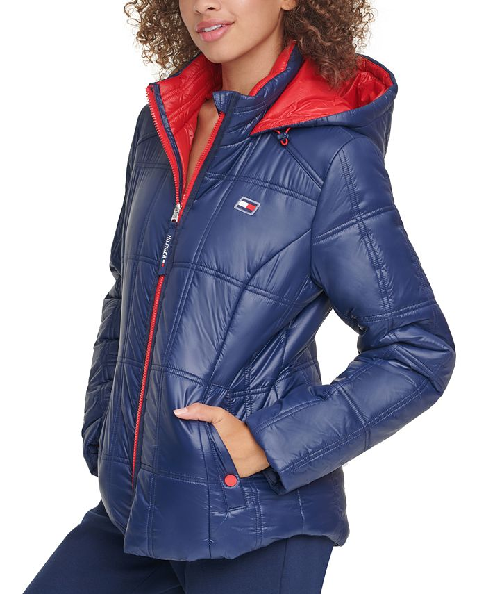 Tommy Hilfiger - Box-Quilted Hooded Puffer Coat