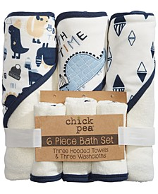 Chick Pea Baby Boy 6pc Bath Set