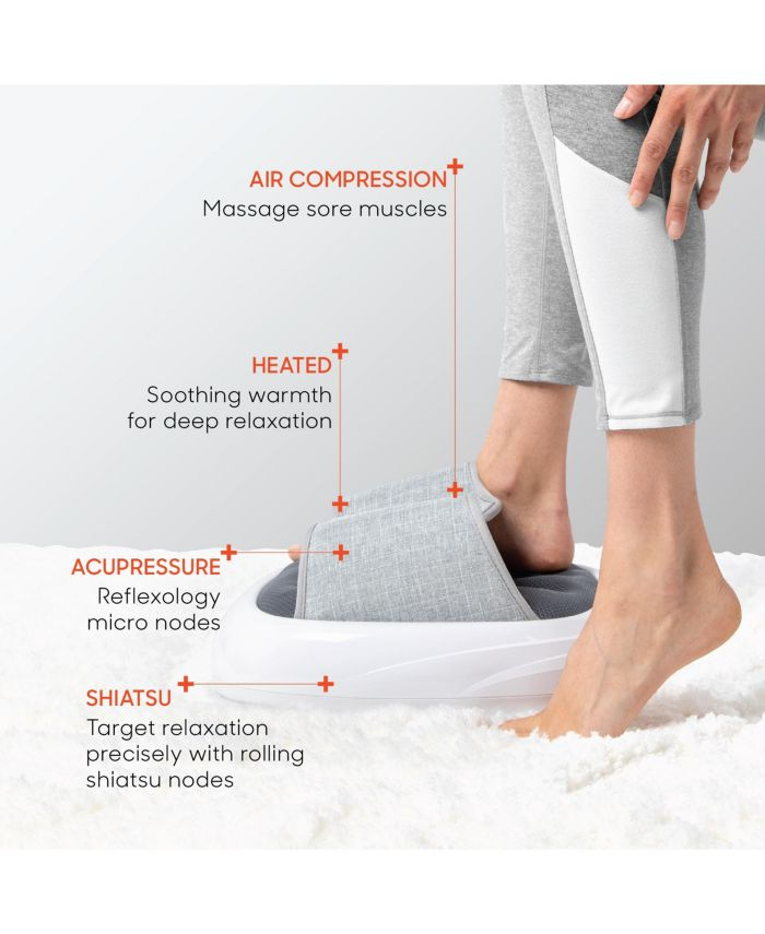Sharper Image Acupoint Acupressure Foot Massager Machine with Acupressure, Heat, Compression, & Vibration  & Reviews - Wellness  - Bed & Bath - Macy's