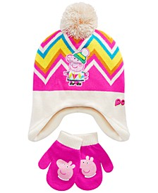 Toddler Girls 2-Pc. Peppa Pig Hat and Glove Set