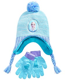 Girls Frozen Hat and Glove Set