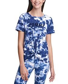 Tie-Dyed Twist-Hem T-Shirt