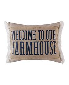 "Rochelle Stripe Farmhouse Pillow, 14"" x 18"""