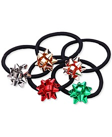 INC 5-Pc. Multicolor Gift Bow Ponytail Holder Set, Created for Macy's