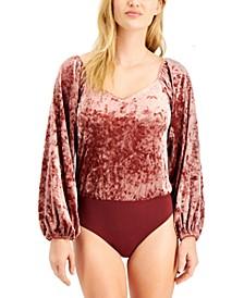 Velvet Contrast Bodysuit