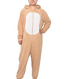 Trendy Plus Size 1-Pc. Hooded Holiday Pajamas
